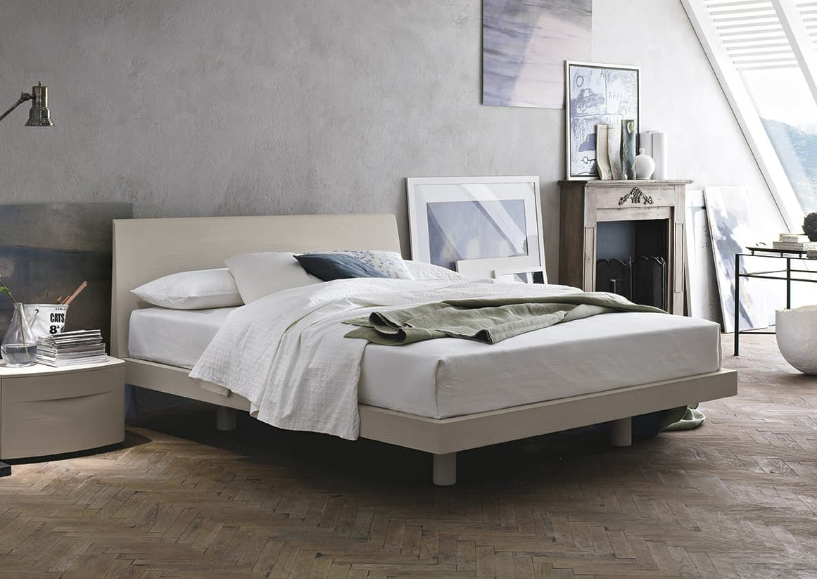 white contemporary simple bed