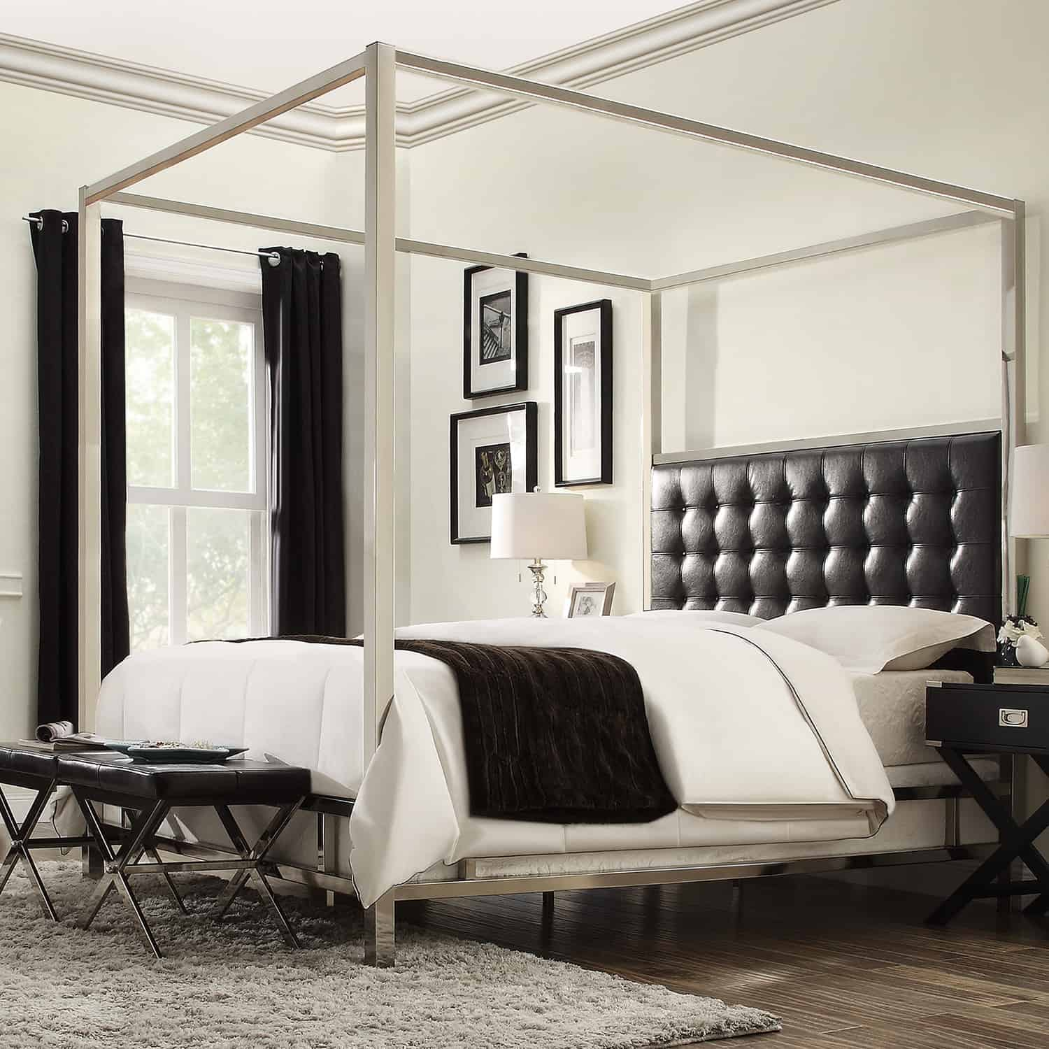 white-leather-contemporary-as-wells-as-contemporary-canopy-bed-furniture-bedroom-picture-canopy-bed