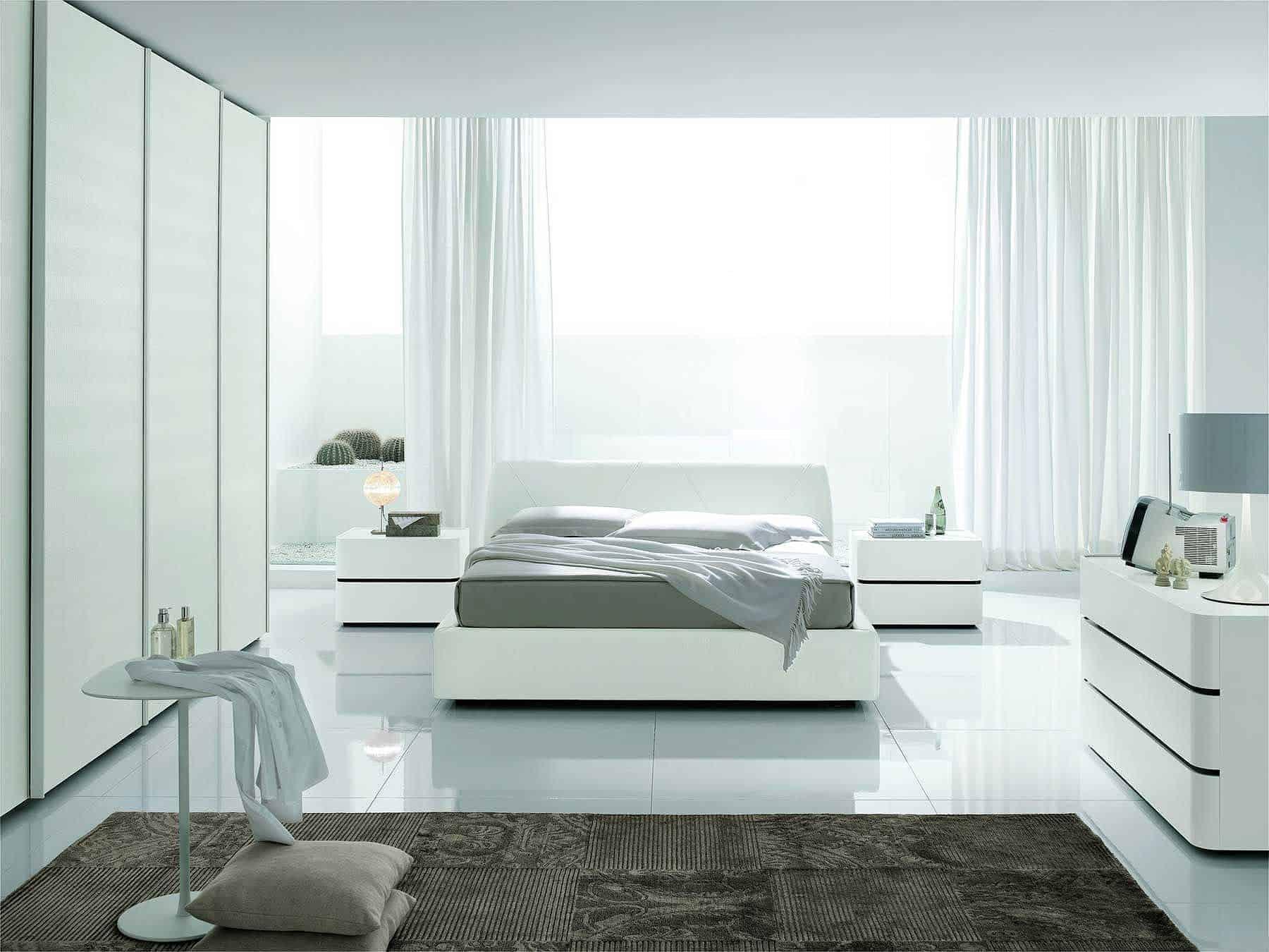 white modern bedroom set