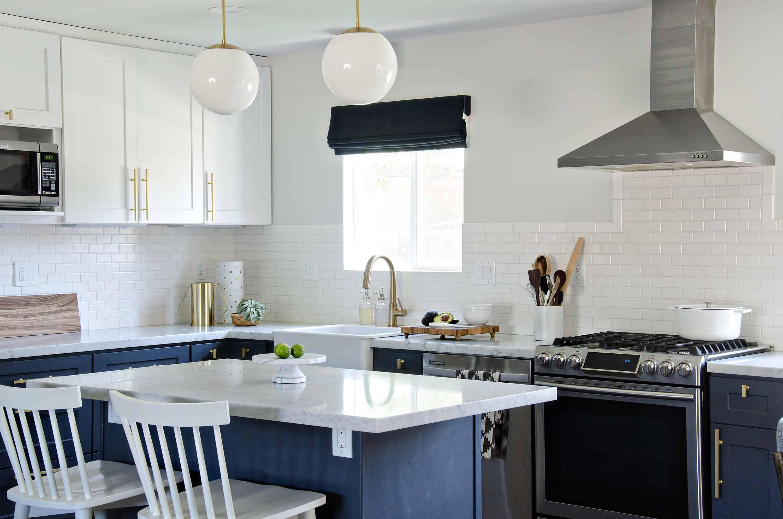 Navy kitchen design