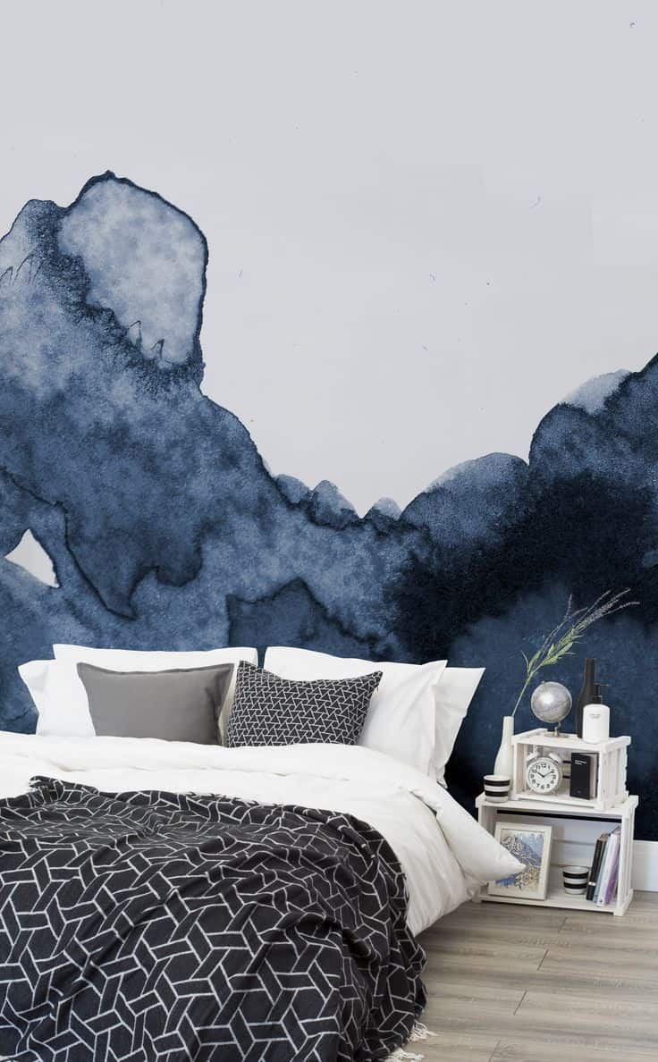 Water colors are an excellent way of having dimension in your wallpaper of choice without changing your color scheme