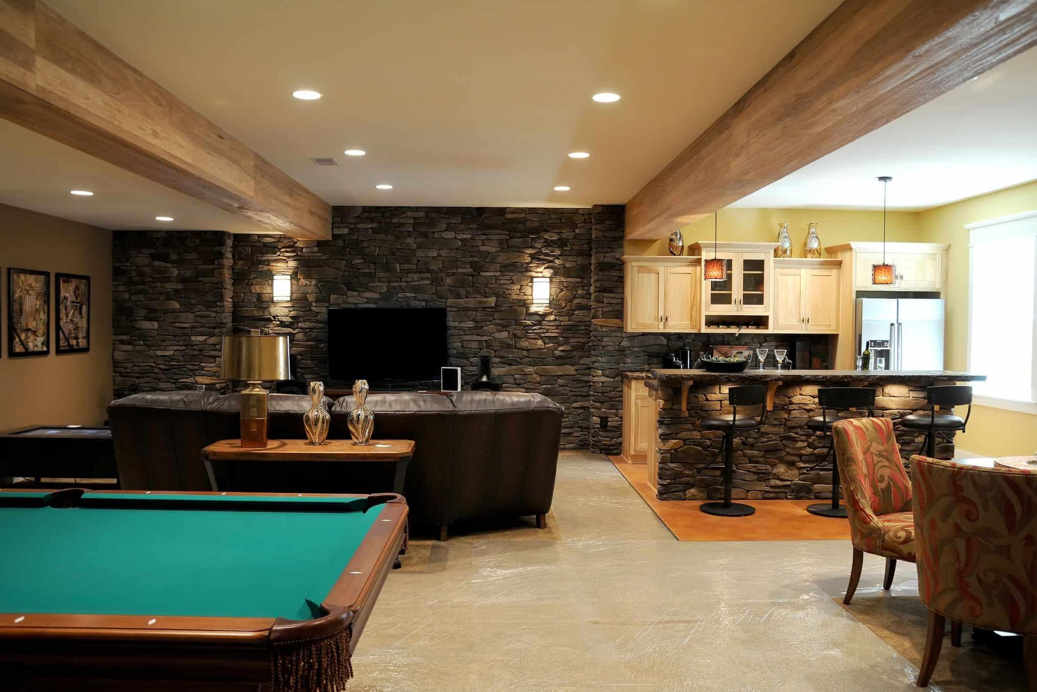 basement bar ideas on a budget Style Expansive