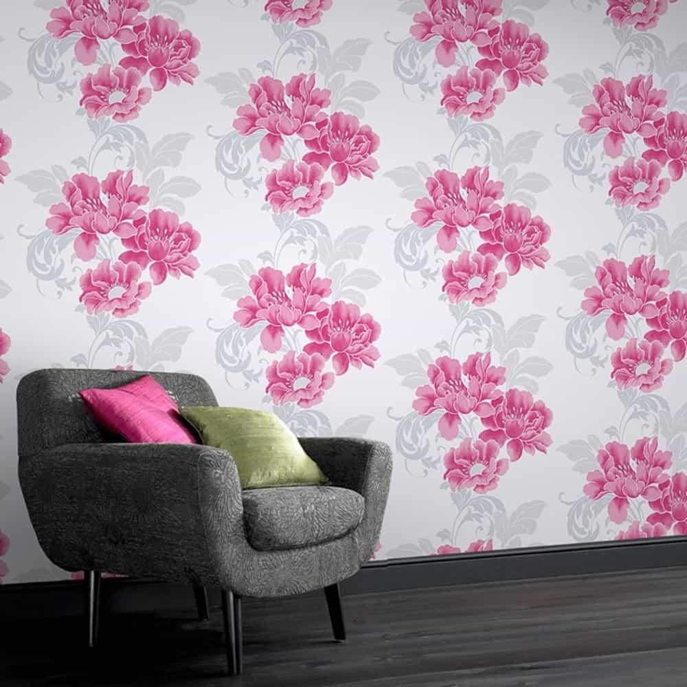 A bold floral wallpaper can help bring the floral aspect into your home that you may seek