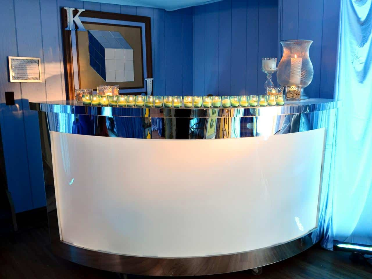 Curved Bar Table