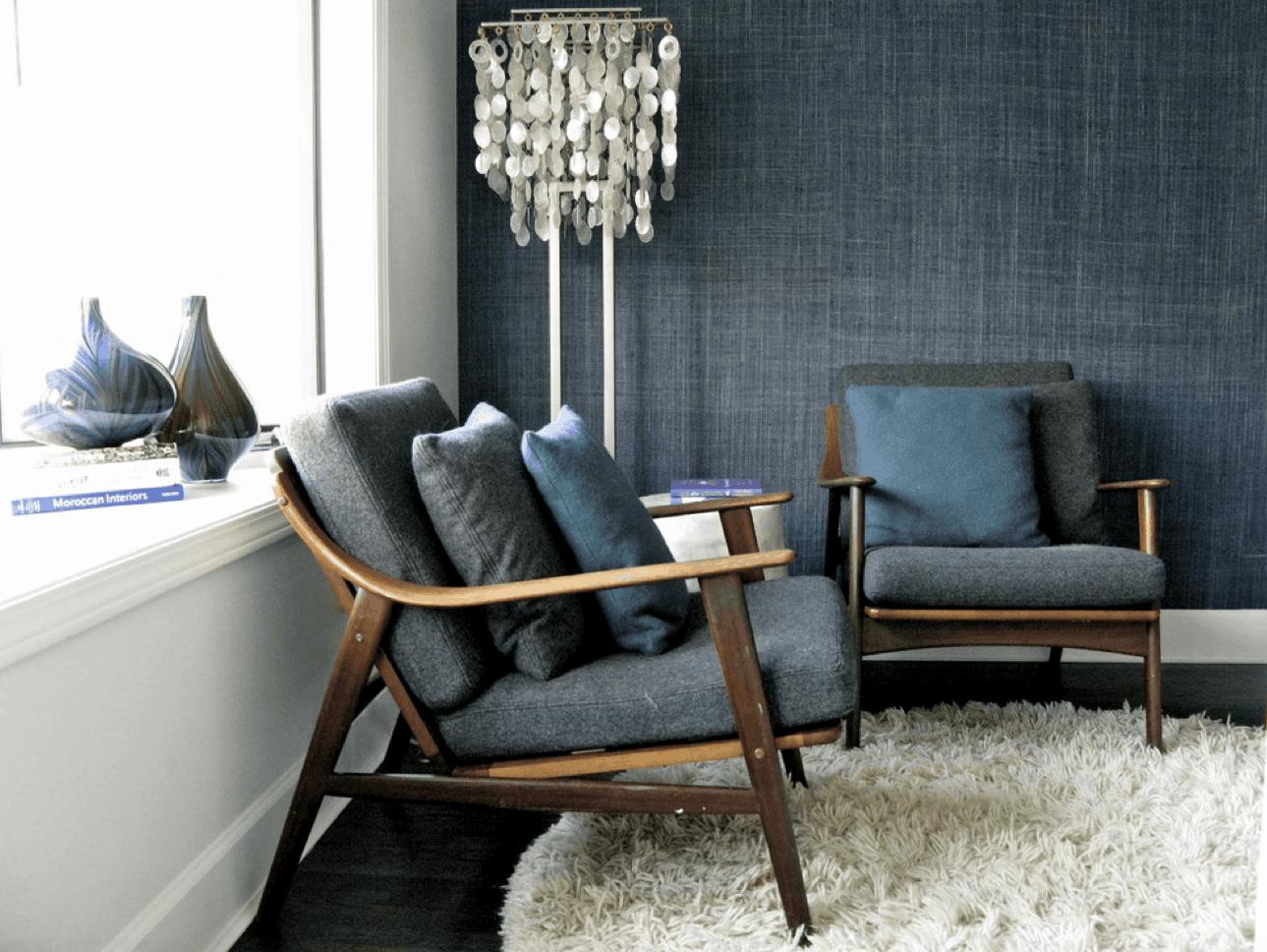 denim inspired wallpaper design