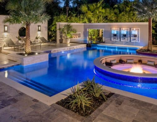 A fire pit does not need to be placed in any specific area.