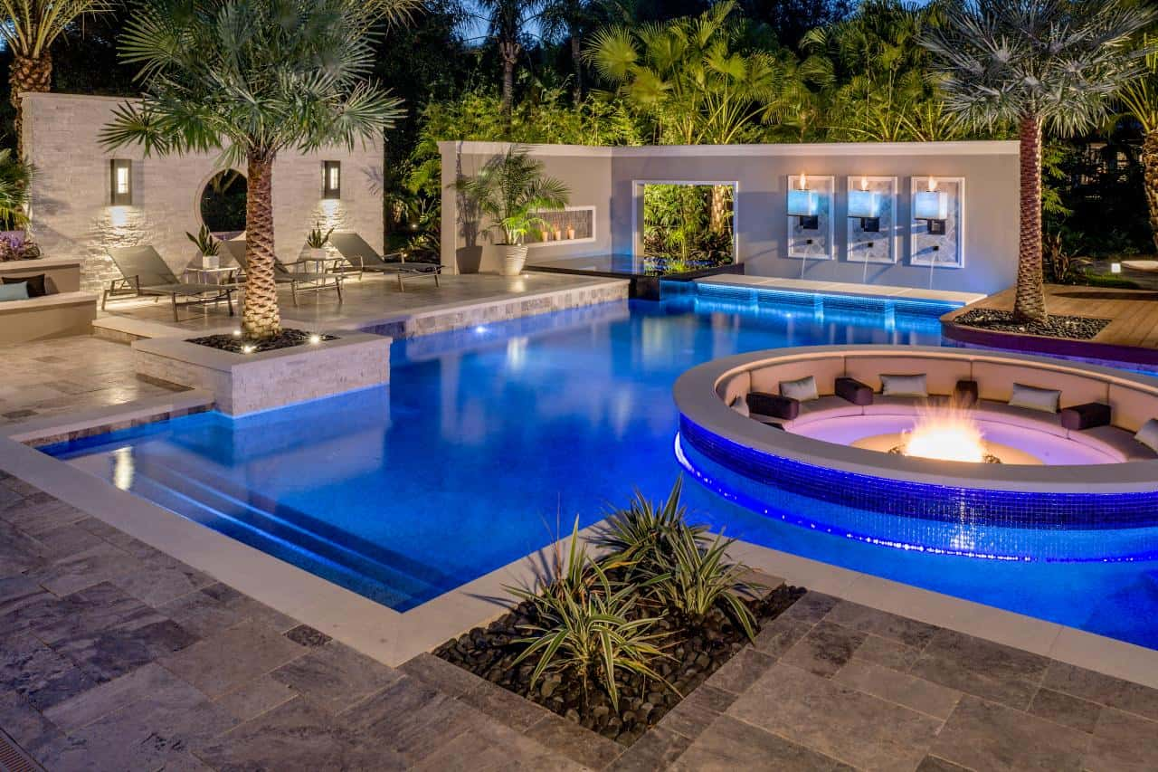 Luxury Backyard Pool Designs Glass Swimming Pool Luxury Backyard