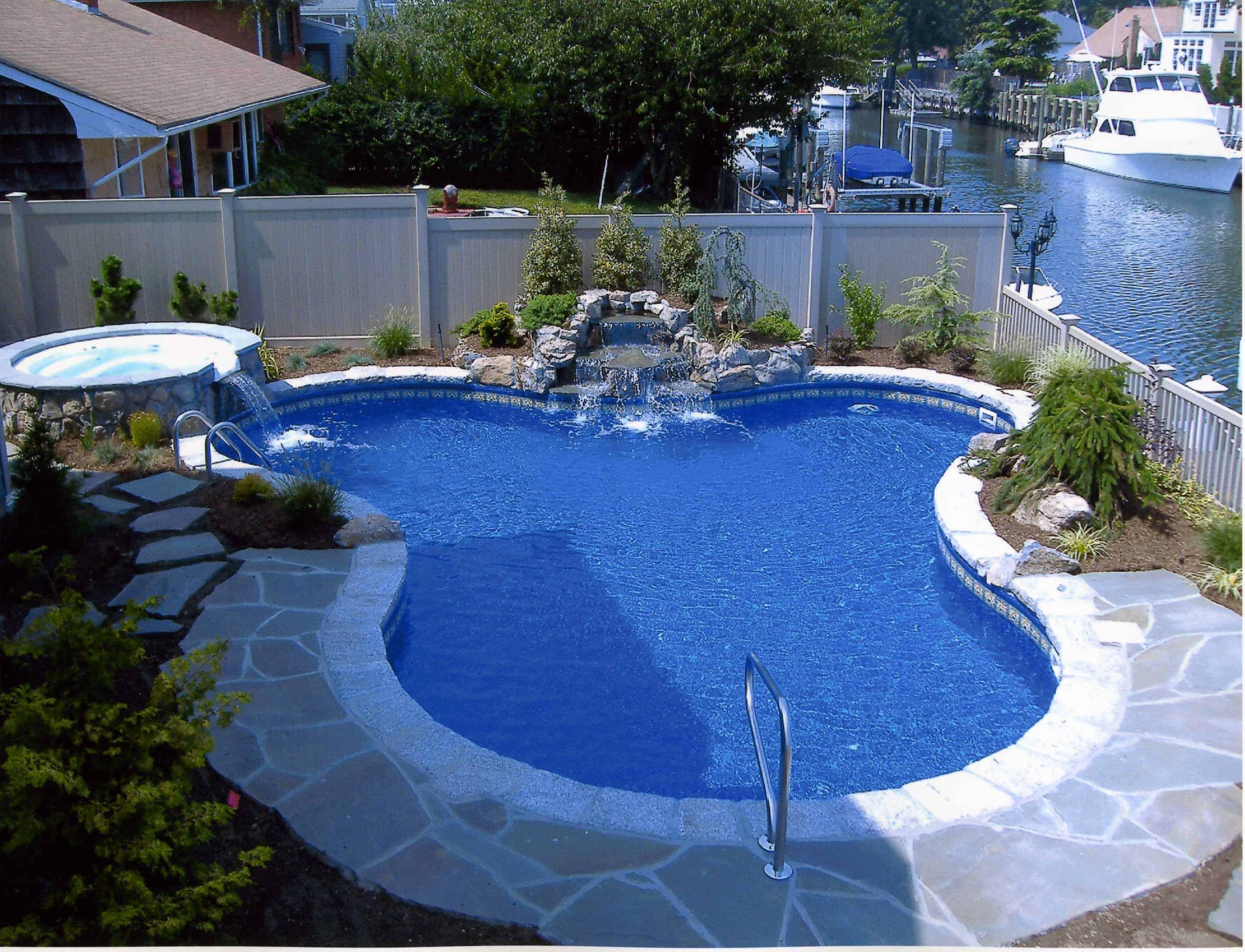 goldfish-shaped inground pool design