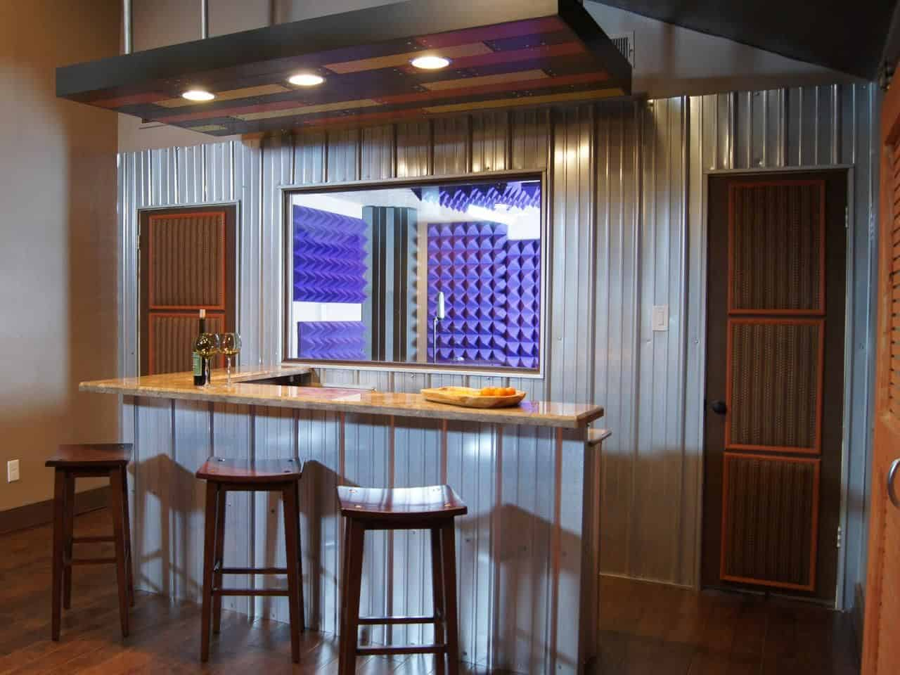 impressive-small-basement-bar
