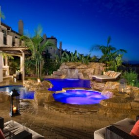 Creating a multi-leveled pool will give you the getaway you desire right in your backyard.