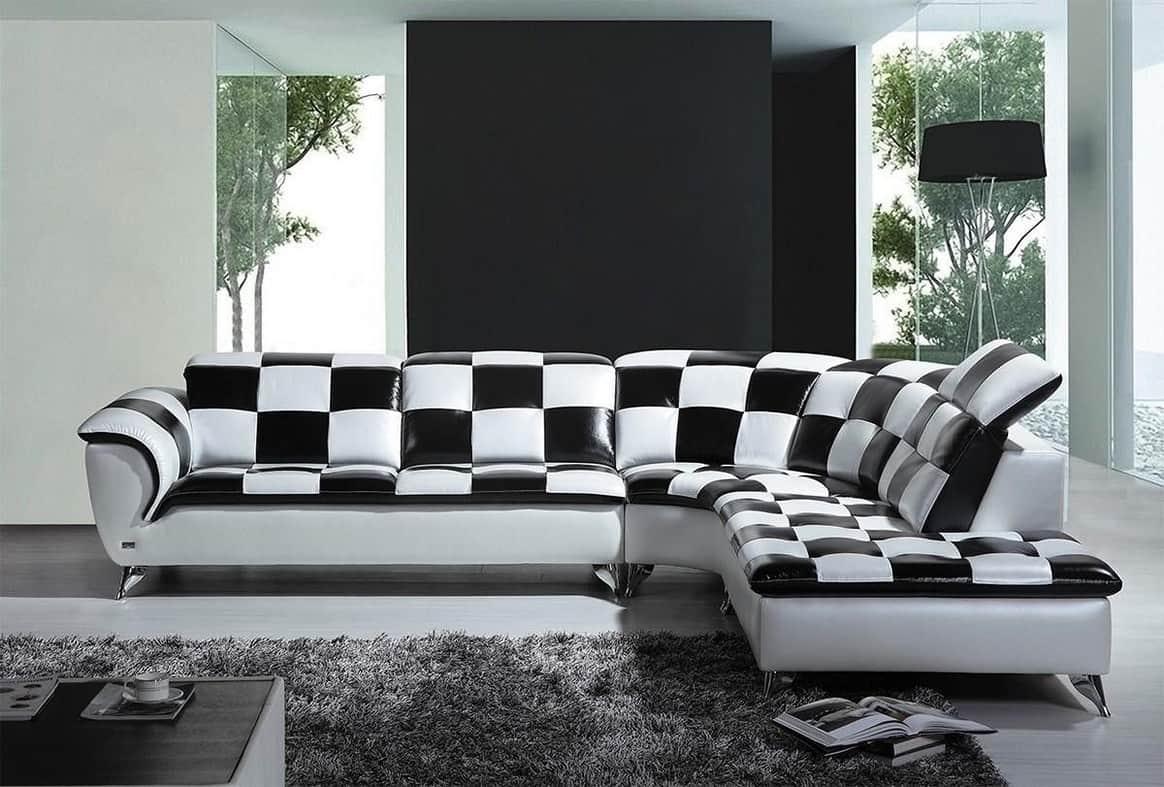 Black Patterned Sofa
