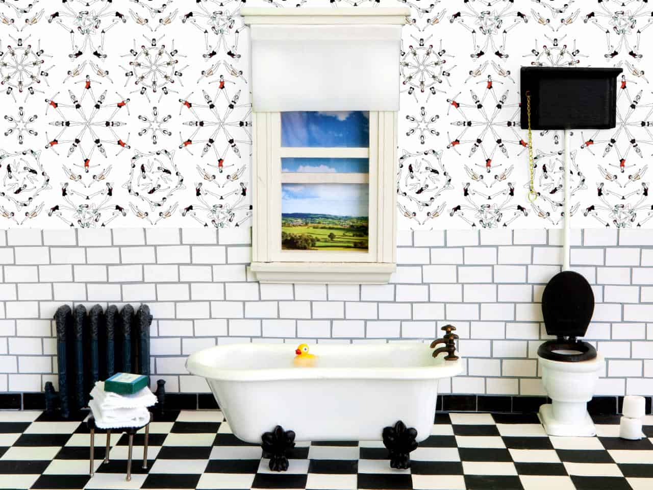 Adding a retro wallpaper to a space can give you the retro feel you may seek to add to your home