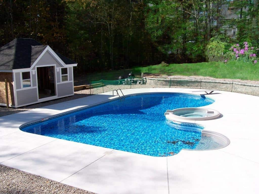 rounded lshape pool design
