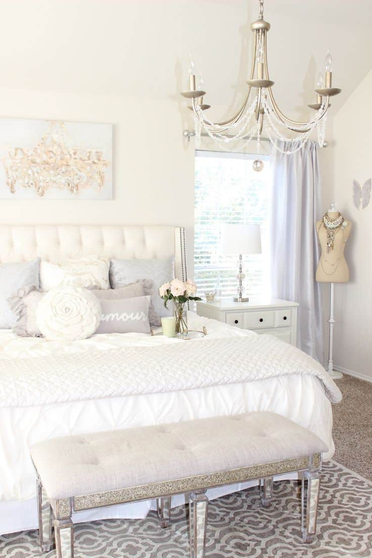 victorian feminine bedroom chandelier