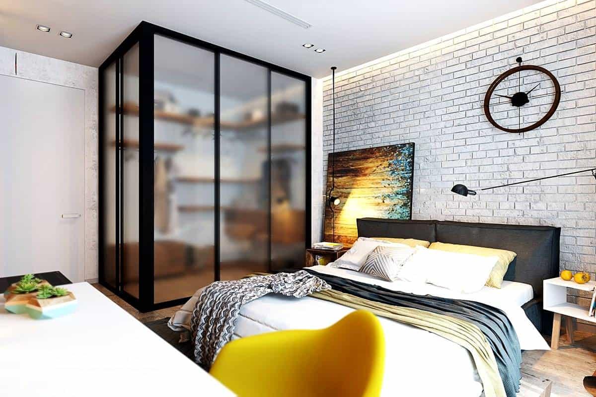 white brick wallpaper design