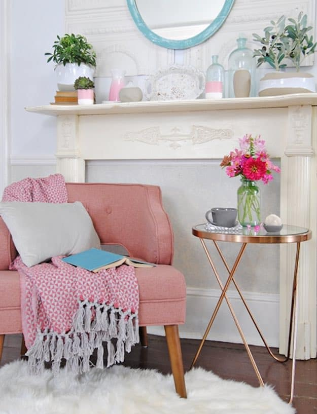Stylish-Reading-Chair Pink