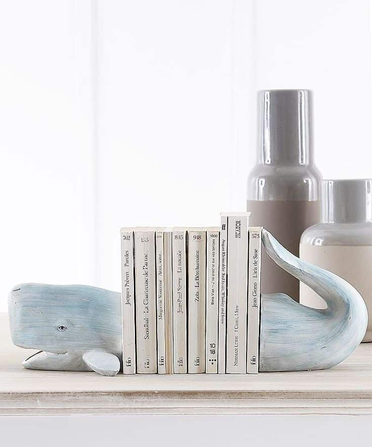 Whale bookends 15 Unique Bookends For All Of Your Favorite Reads