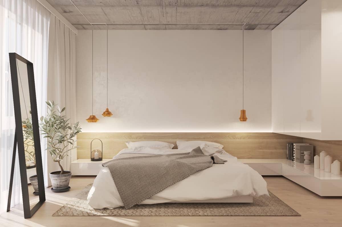 asian inspired minimalist bedroom