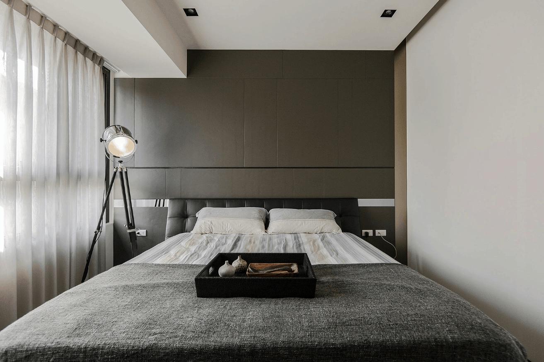 bedroom grey minimalist nook