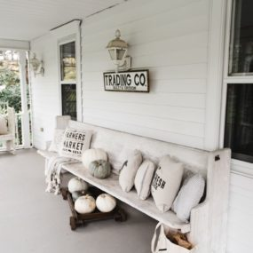 bench 285x285 Porch and Patio Idea Youll Want to Steal This Fall