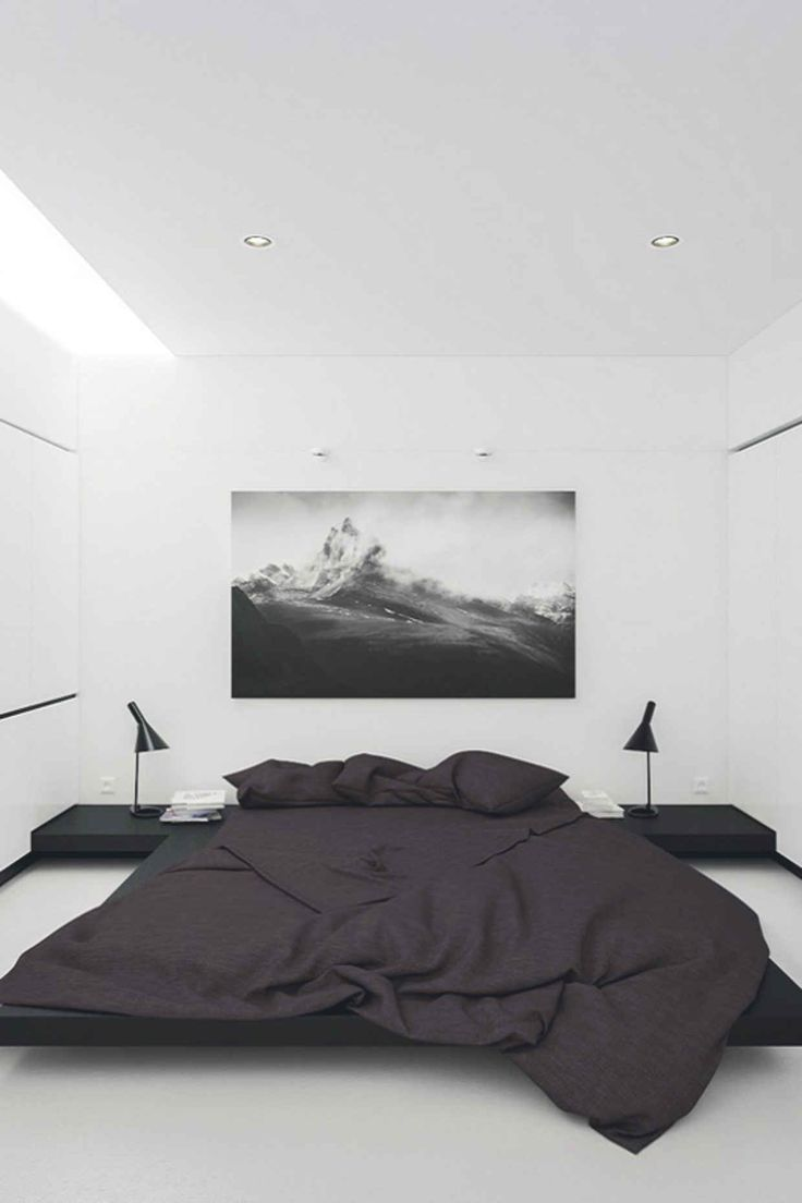 40 simple and chic minimalist bedrooms for Minimalist single bedroom