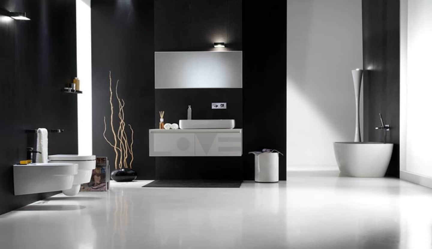 black colored bathroom Bathroom Paint Colors That Always Look Fresh and Clean