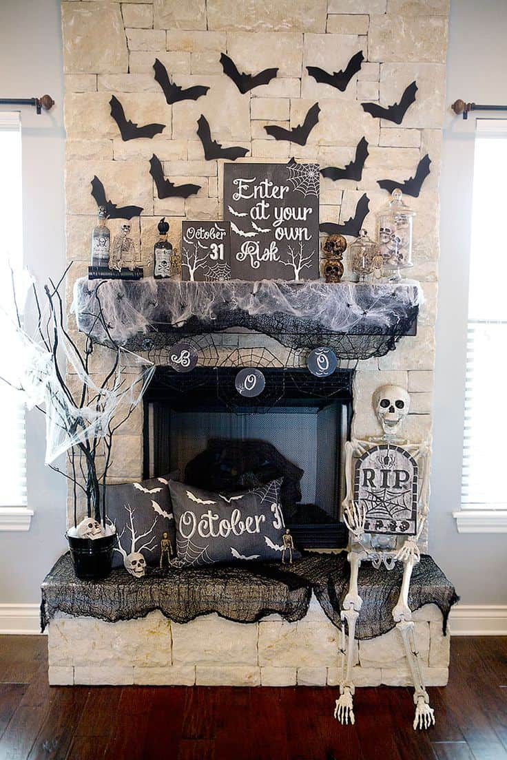 Although you can choose to use only a few bone details in your home.