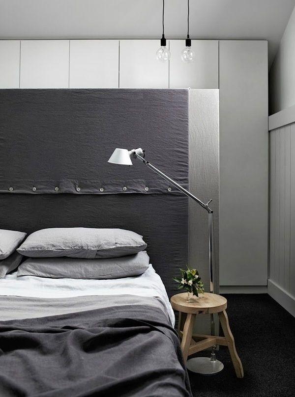 charcoal masculine minimal bedroom
