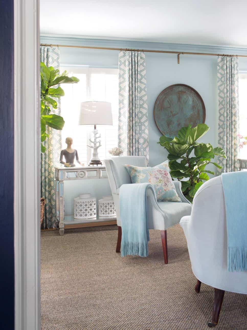 View In Gallery Curtains That Match The Furniture Statement To Upgrade Any Room