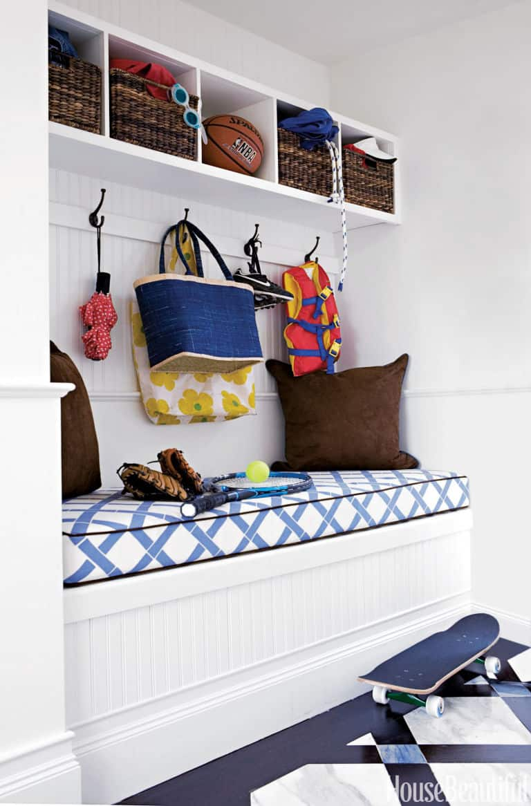 cushion mudroom bench