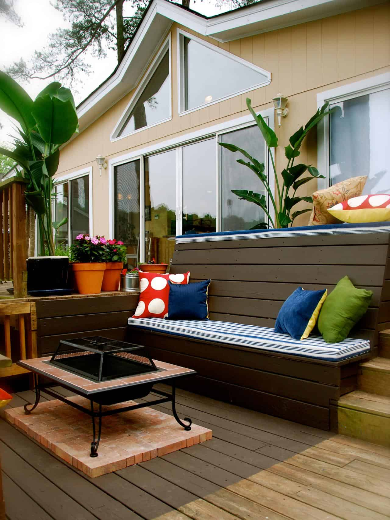 custom bench  10 Ways to Make the Most out of a Small Outdoor Space
