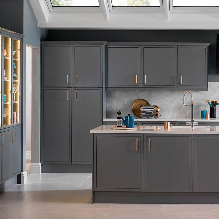 Grey Kitchen Cabinets Gold Hardware 40 romantic and welcoming grey kitchens for your home