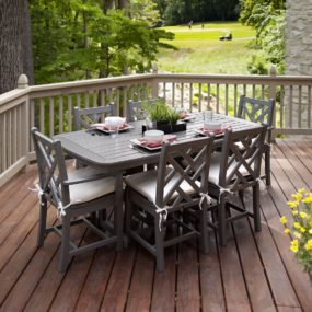 dining table on porch 285x285 Porch and Patio Idea Youll Want to Steal This Fall