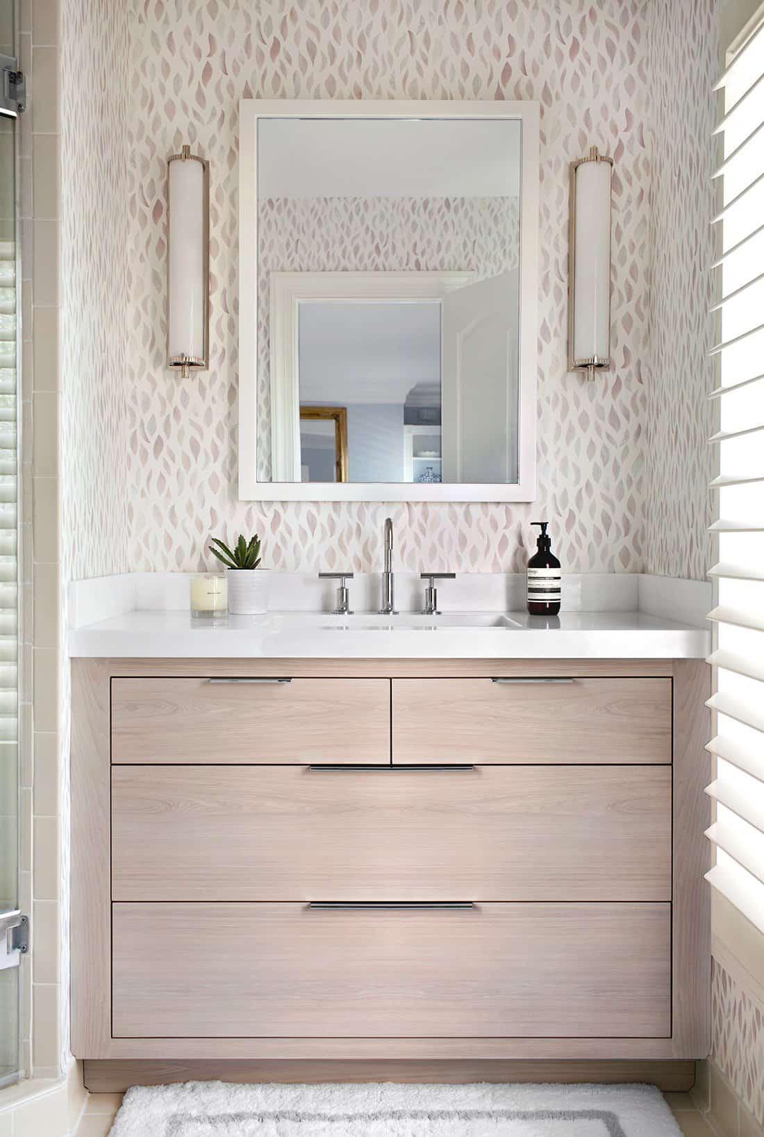 feminine modern bathroom vanity