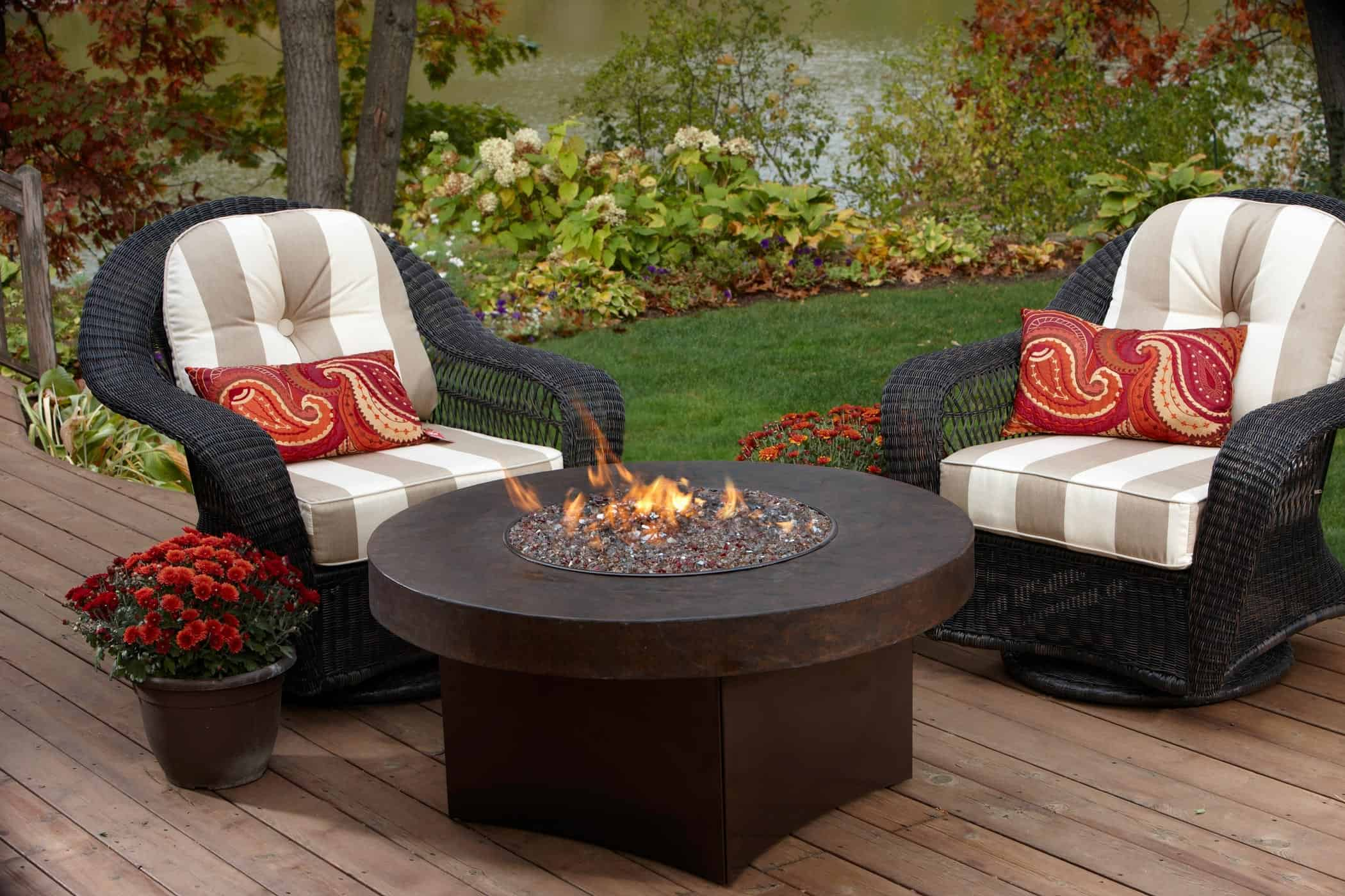 Elegant Fire Pit Table