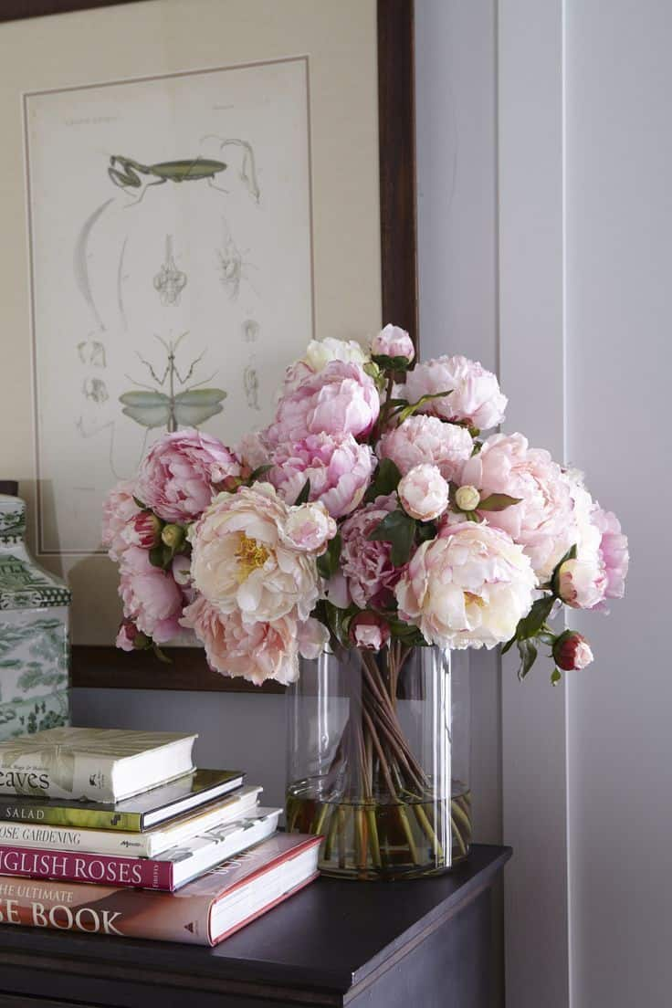 Fresh flowers add a natural beauty to any room.