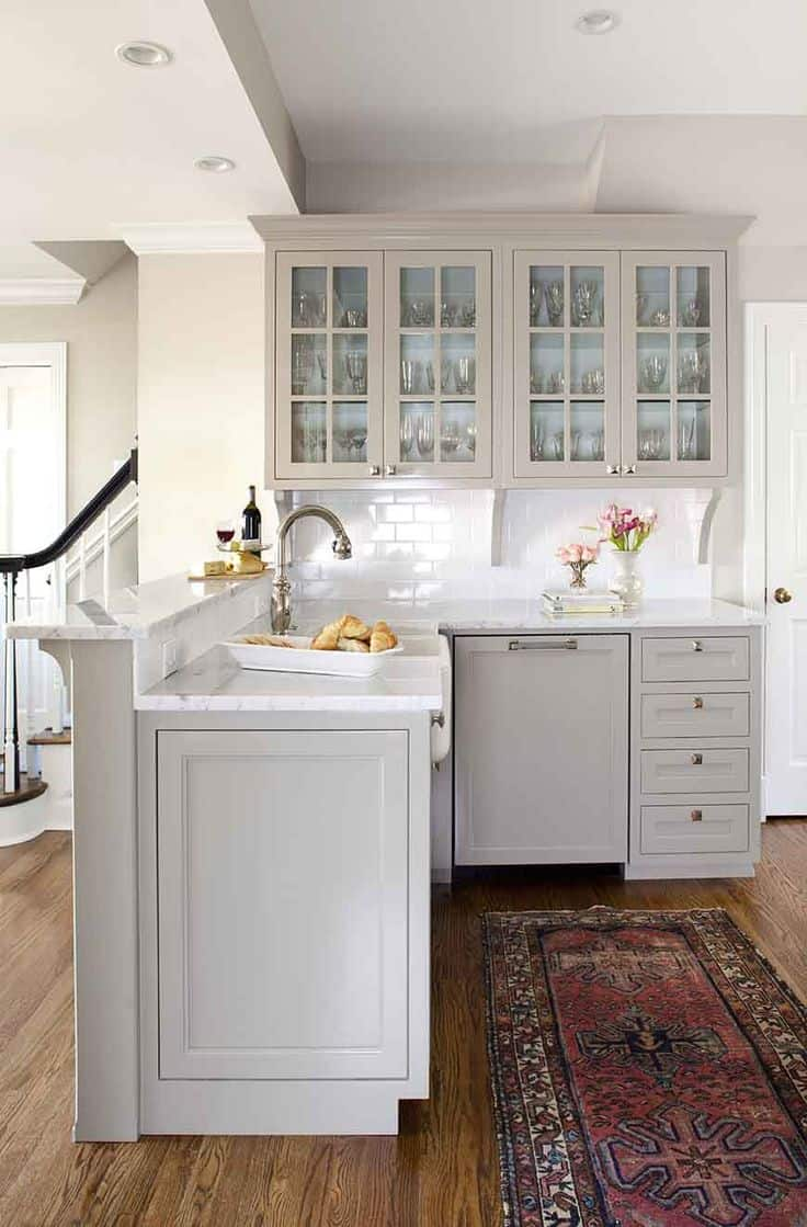 White Kitchen Lighting 40 romantic and welcoming grey kitchens for your home workwithnaturefo