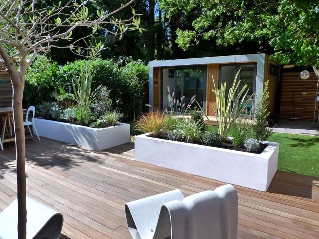 If your patio is a bit larger than you may want to have large plant blocks.
