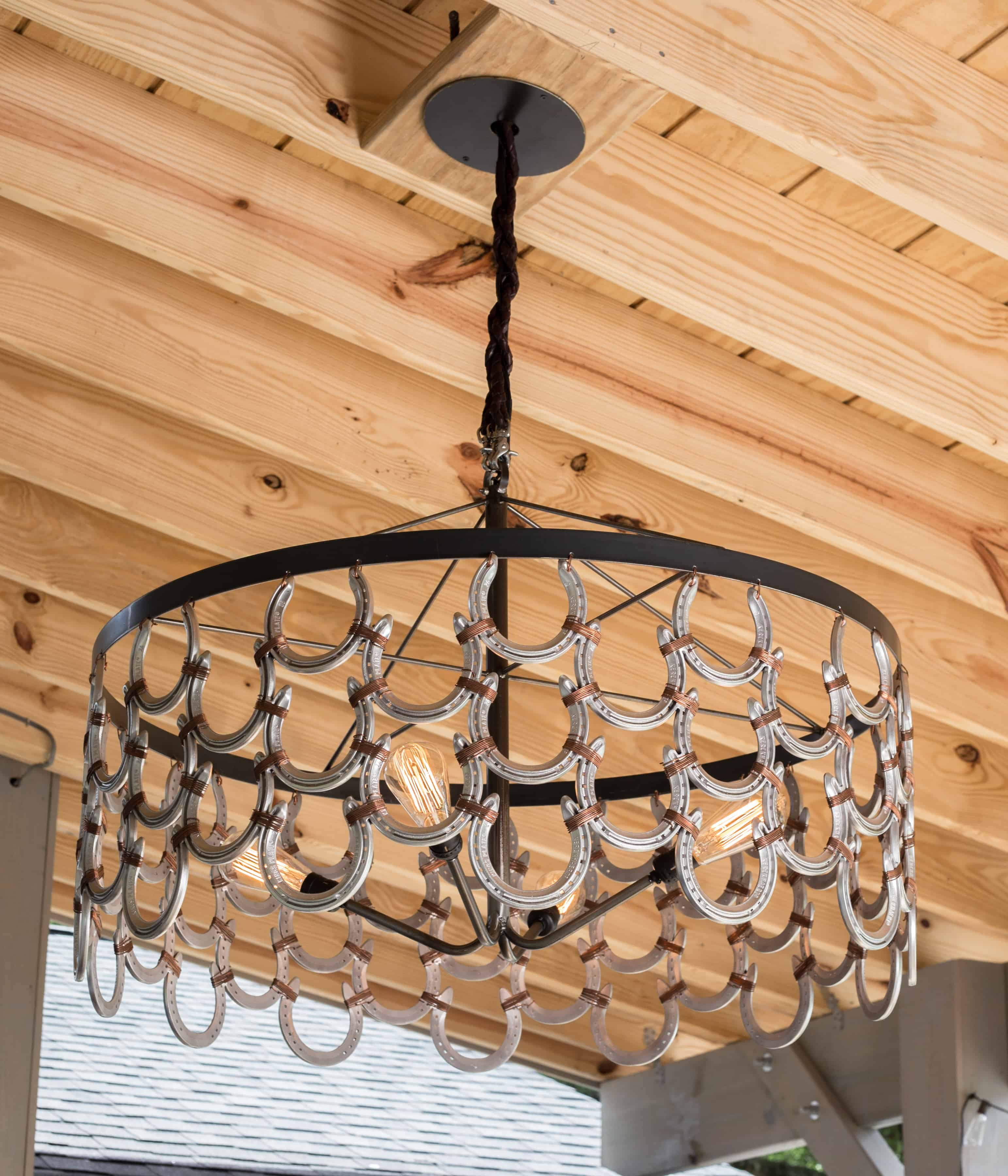 Get creative with your horseshoe design. The idea is horseshoes are easy to decorate with while still bringing luck and positivity into the home.