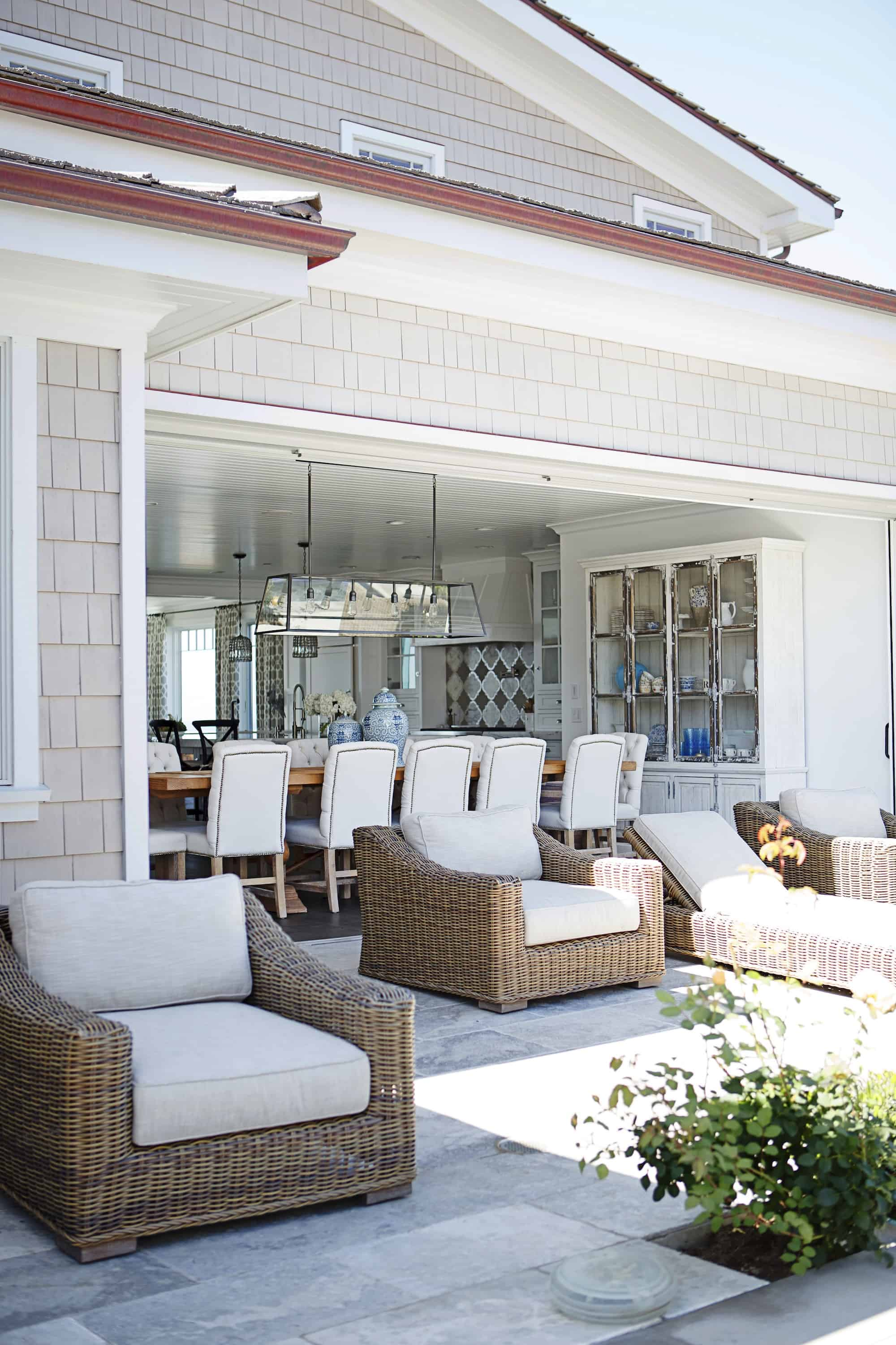 When you want to mesh together your outdoor space with your indoor area invisible doors is the way to go. They create a seamless connection between the two that can be quite difficult to distinguish.