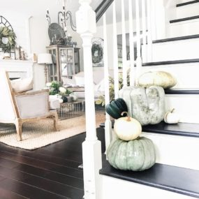 Linen pumpkins come in all different shapes, sizes, and even colors