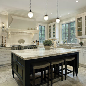 Marble countertop islands are extremely modern to have in the home