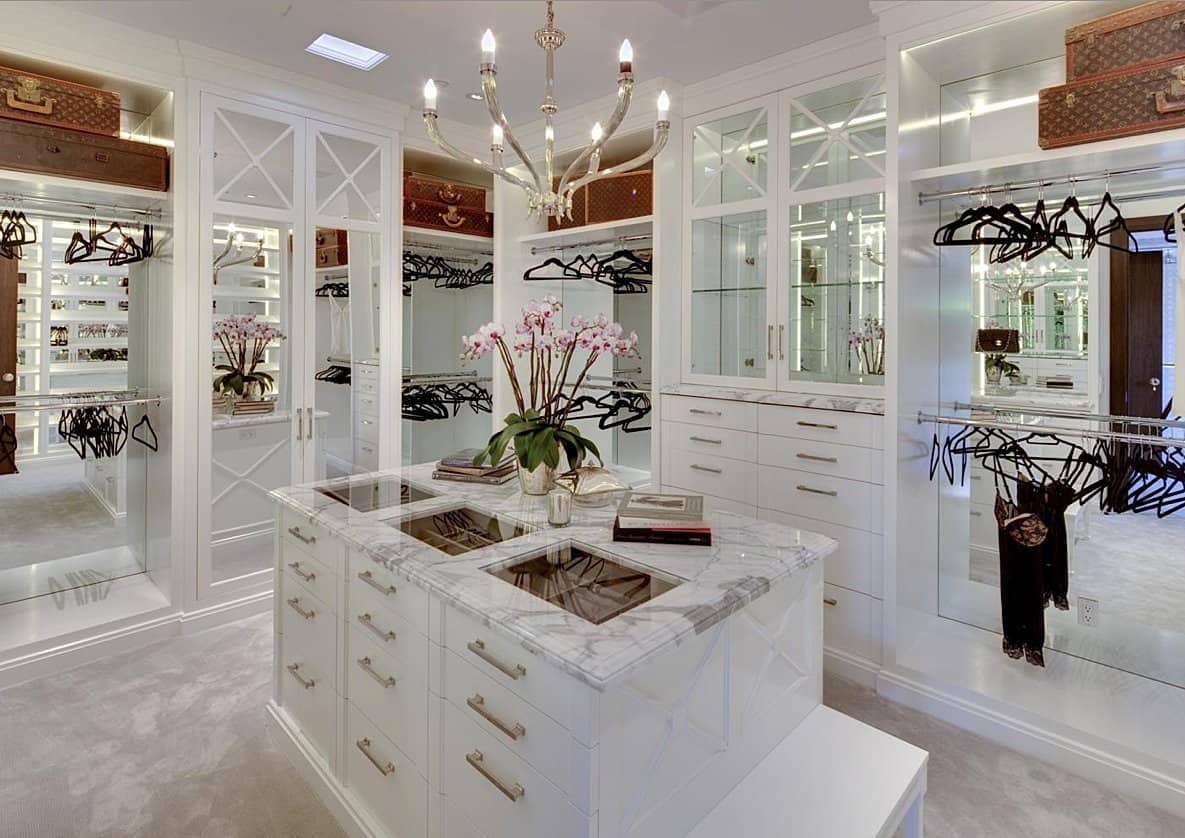 View in gallery marble island walk in closet décor options you should consider