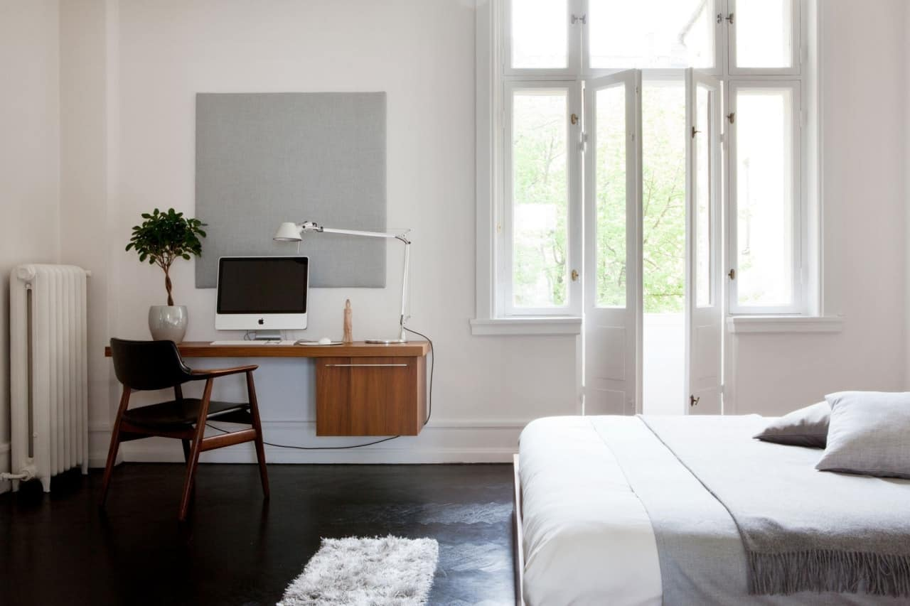 20 Minimal Home Office Design Ideas Inspirationfeed with minimalist bedroom office with regard to  House