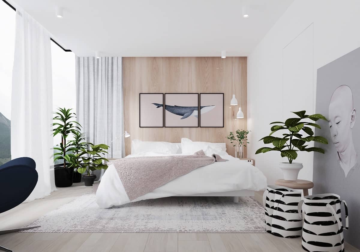 minimal bedroom with style