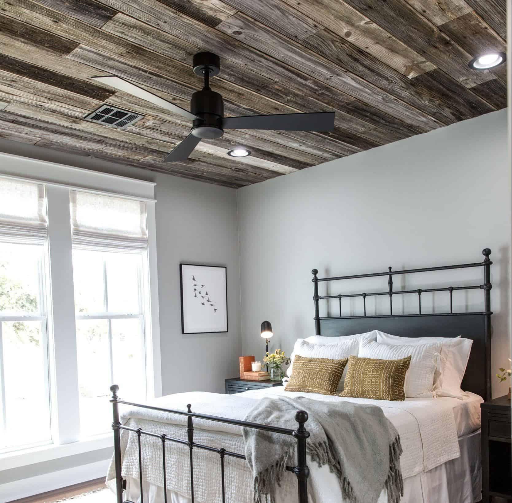 minimal farmhouse modern bedroom