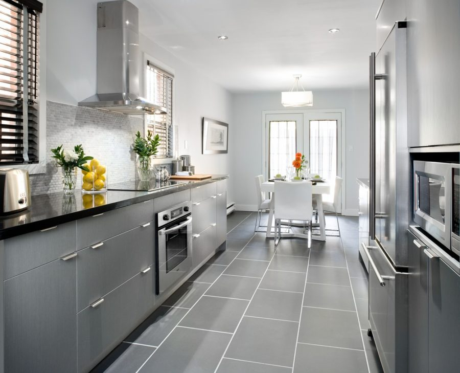 40 Romantic And Welcoming Grey Kitchens For Your Home