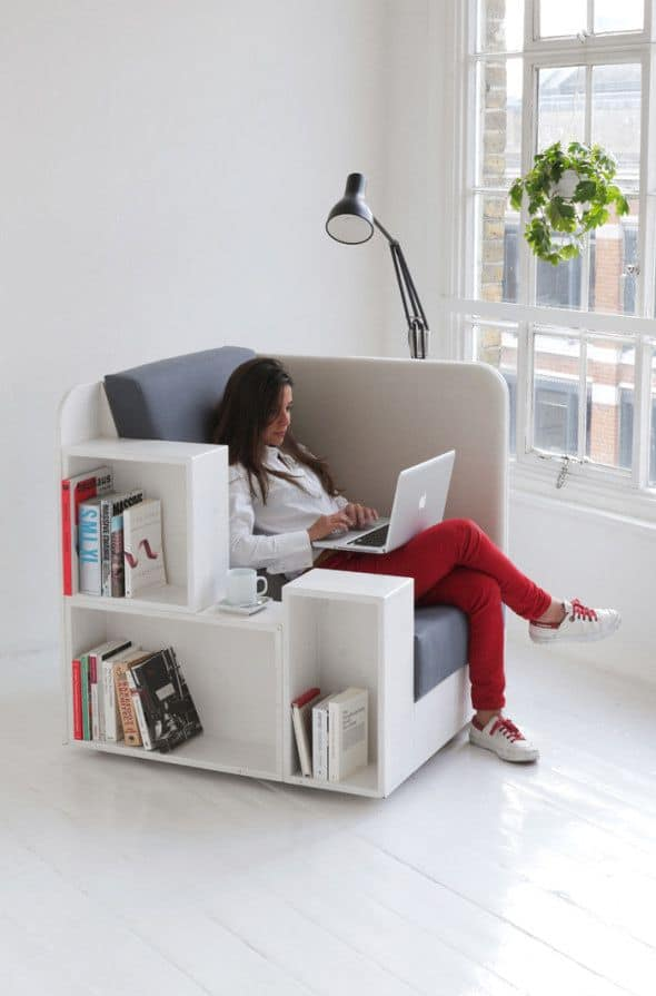 modern innovative reading and work chair