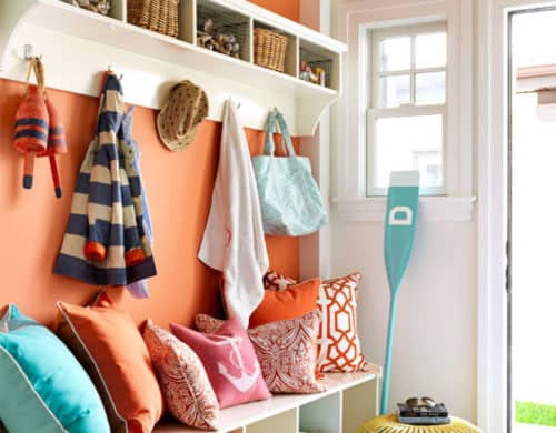 mudroom bench with cubbies