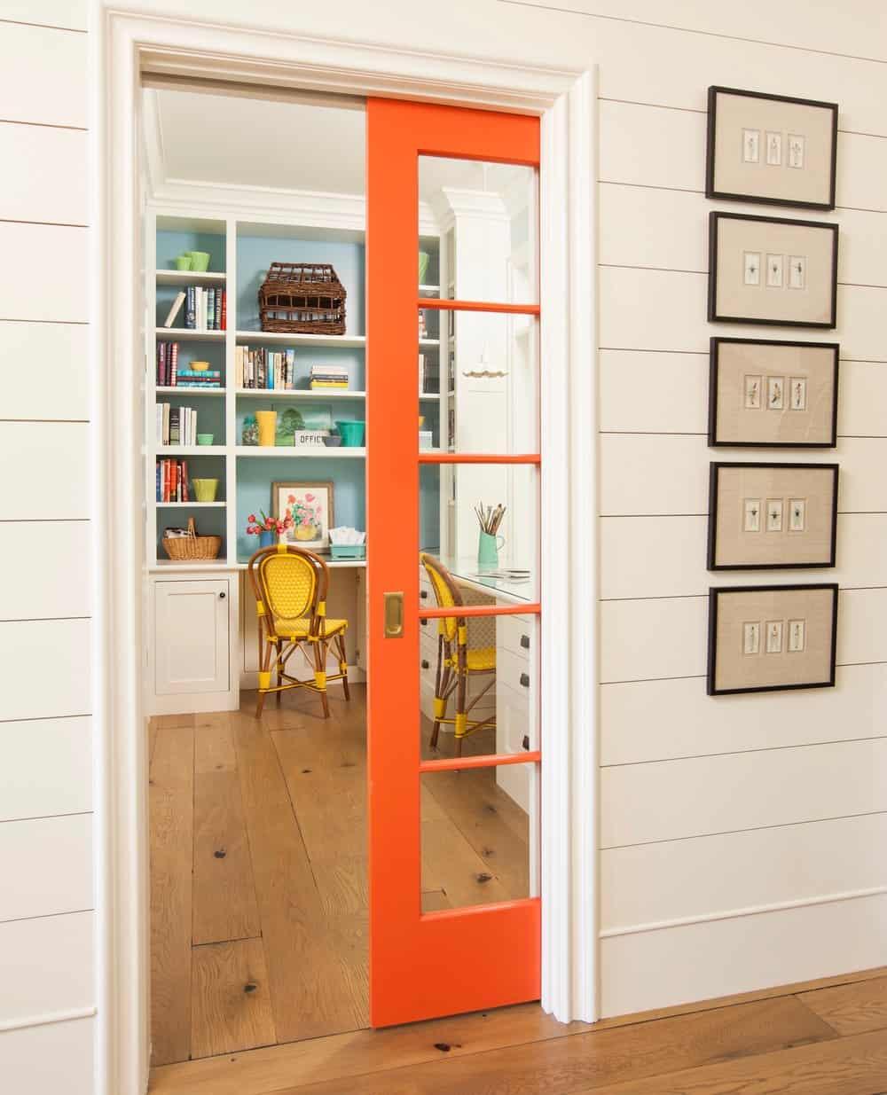 orange pocket door
